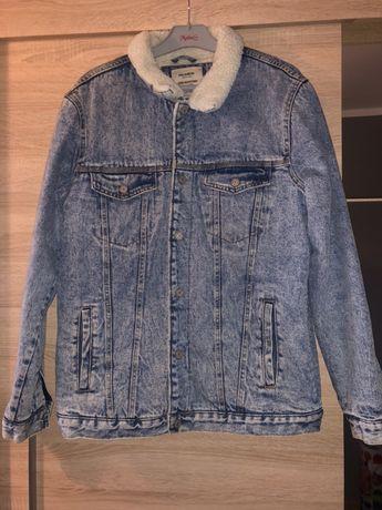 Kurtka jeansowa z futerkiem PULL&BEAR