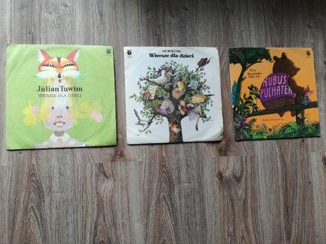 płyty winylowe - dla dzieci - Tuwim, Brzechwa, Kubuś Puchatek