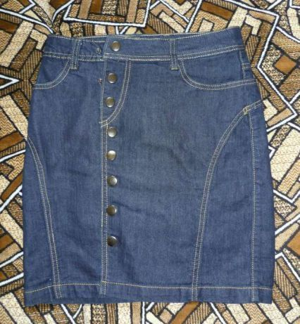 Тренд юбка джинс