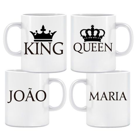 King & Queen Flat Caneca Pack