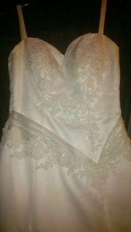 Suknia ślubna biała rozmiar 36+bolerko+buty rozmiar 38