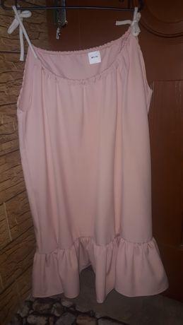 Sukienka puder róż UNI 46, 48, 50