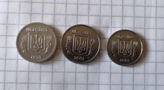 1, 2, 5, 10, 25, 50 копеек Украина с 93 года
