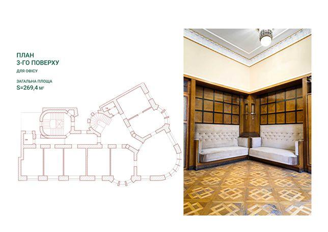Готові офісні приміщення 3 поверх - 283.2 м2
