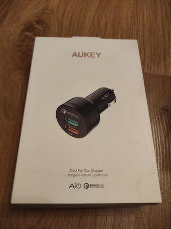 Ładowarka samochodowa AUKEY CC-T7 Quick Charge 3.0, 6 A, 2 x USB 3.0