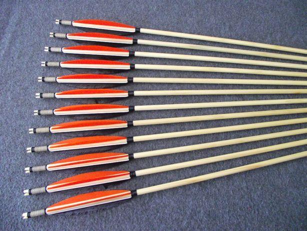 25-30 świerk nr 606 Komplet strzał do łuku strzały strzała drewniana