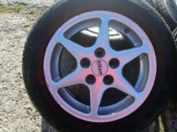 Alufelgi 14 5x100 opony zimowe Hankook VW Skoda,Audi