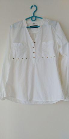 Koszula 40 biała zlote guziki Esmara
