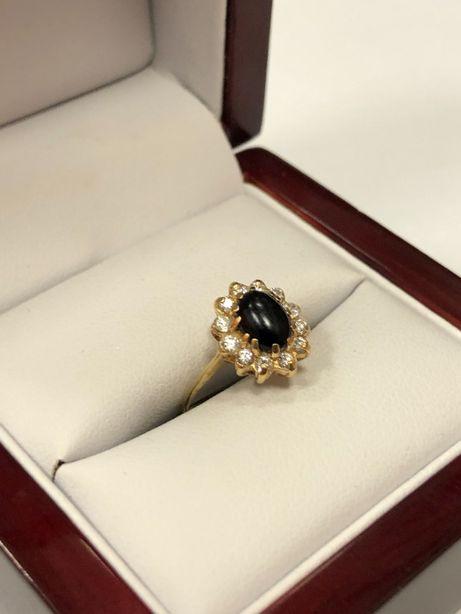 śliczny złoty pierścionek p585 1,68g rozmiar 9!