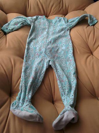 Флисовая слип пижама на 2-3года