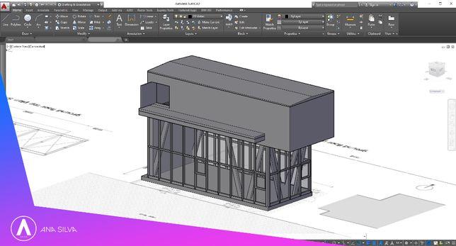 Elaboração de projetos em Autocad 2D e 3D