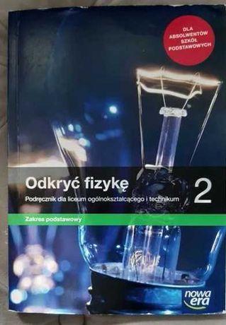 Podręcznik 2 druga klasa liceum Odkryć Fizykę fizyka Nowa Era podstawa