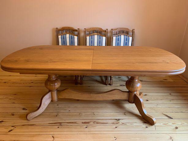Stół rozkładany drewniany duży stylowy jadalnia