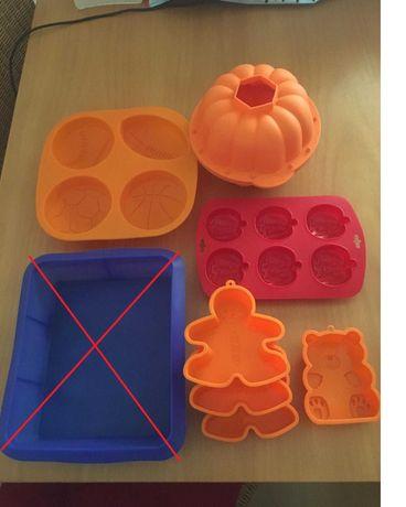 Formas para Bolos, gelados, gelatinas, chupas ou chocolate em silicone