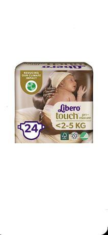 Подгузники Libero Touch Premature размер 0 (до 2.5 кг), 24 шт