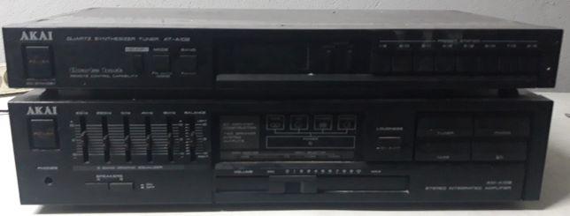 AKAI AT-A102 Amplificador +Rádio Made in Japan