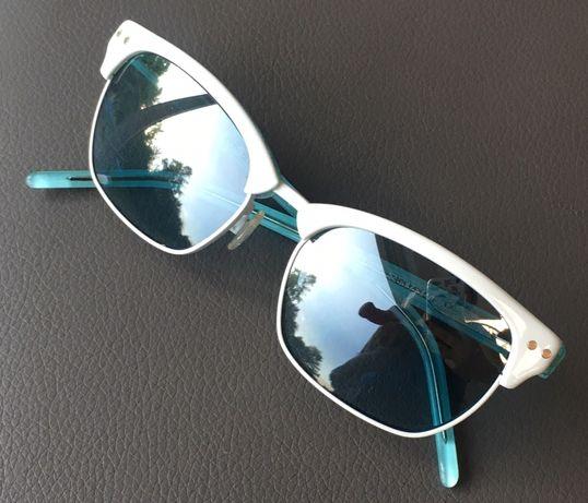 Okulary Sisley oryginalne białe, retro, koty,Okazja nowe