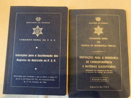 Antigos Guias de Instruções da PSP anos 60 da PSP