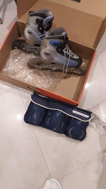 Rolki Nike daskie rozmiar 38 + komplet ochrony