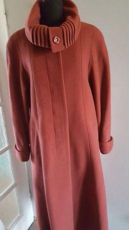 PŁASZCZ damski długi, wełna + polyester + kaszmir, rozmiar 42, 44, 46