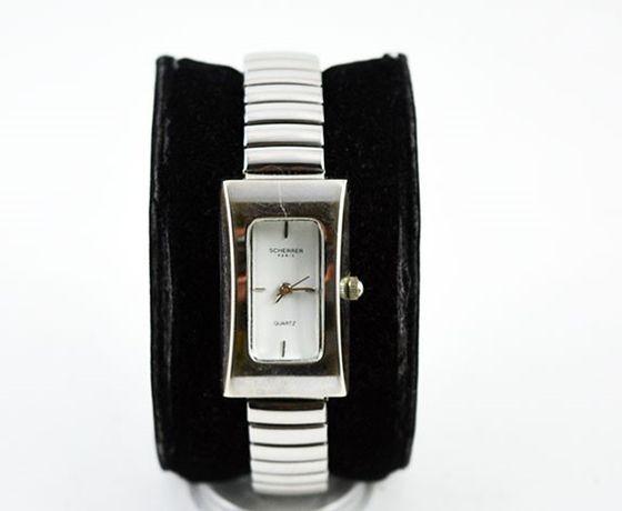Relógio, original, de senhora do costureiro francês Jean-Louis Scherre