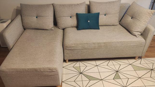 Narożnik rozkładany/ sofa z pojemnikiem na pościel