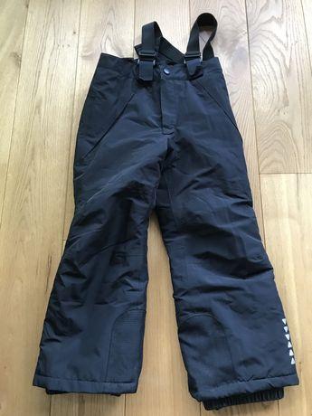 Czarne spodnie narciarskie 116 110
