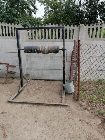 Studnia kolowrot kołowrotek wałek do kopania studni