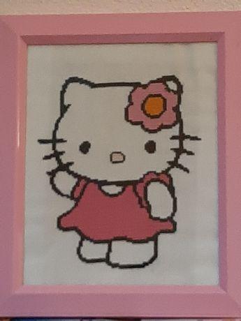 Quadro Hello Kitty Ponto Cruz