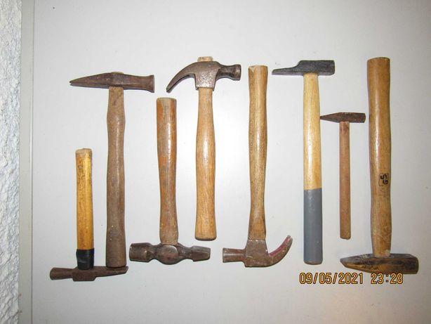 Lote de 8 martelos pequenos específicos