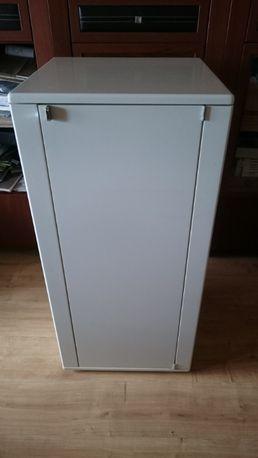 Design komoda - szafka biała wys. 102 cm Półki