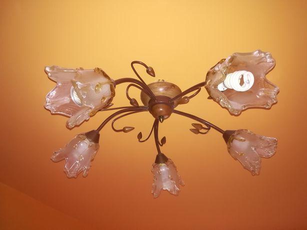 Zestaw lamp wisząca i 2x nocna