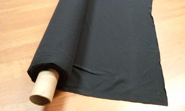 Dzianina materiał tekstylny grafitowy włoska przędza z elastanem