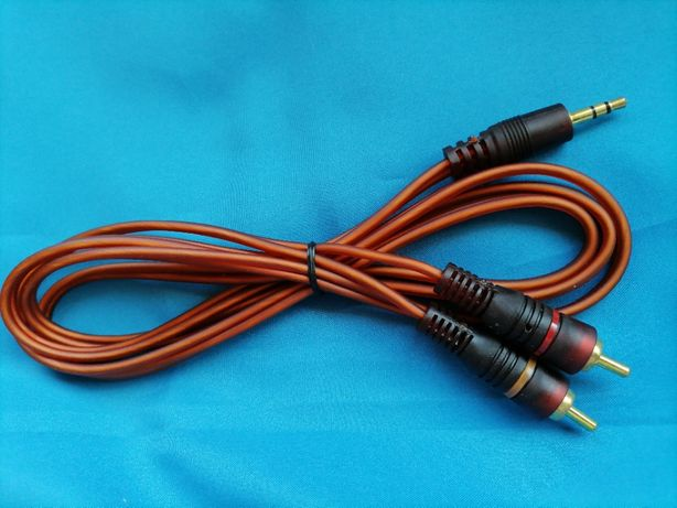 НОВЫЙ Аудио AUX 3,5 мм - 2 тюльпана Кабель 3.5 мини джек на 2 RCA АУХ