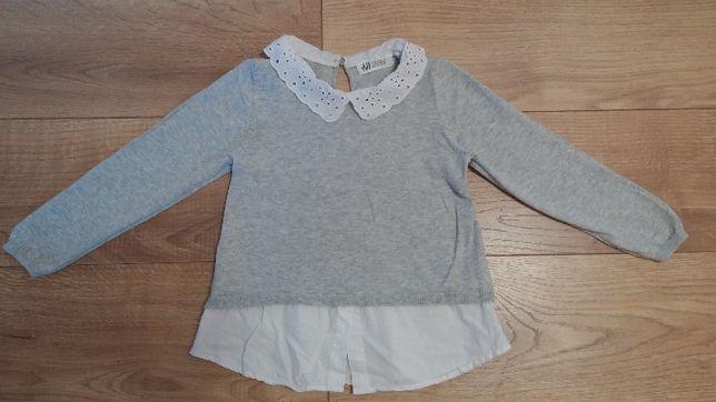 jak nowy H&M elegancki sweter sweterek dla dziewczynki rozm. 110 116