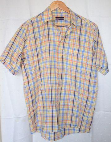 Letnia koszula męska rozm L jak XL, fason- prosta