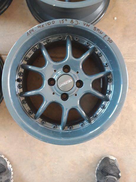 114 Felgi Aluminiowe R15 4x100 VOLKSWAGEN BMW E30 8J BARDZO ŁADNE