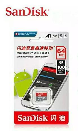 Карта памяти 100МБ/с SanDisk Ultra microSDXC UHS-I 64GB Class10