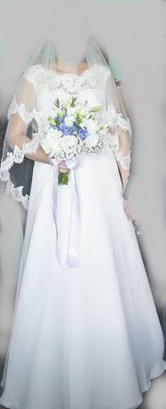Sprzedam suknie ślubną z welonem!!!