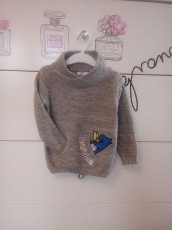 Sweterek sweter chłopięcy z kieszeniami r. 86 JAK NOWY