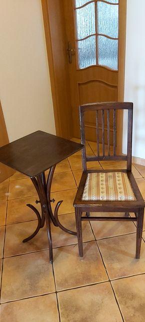 Stoliczek i krzesło przedwojenne