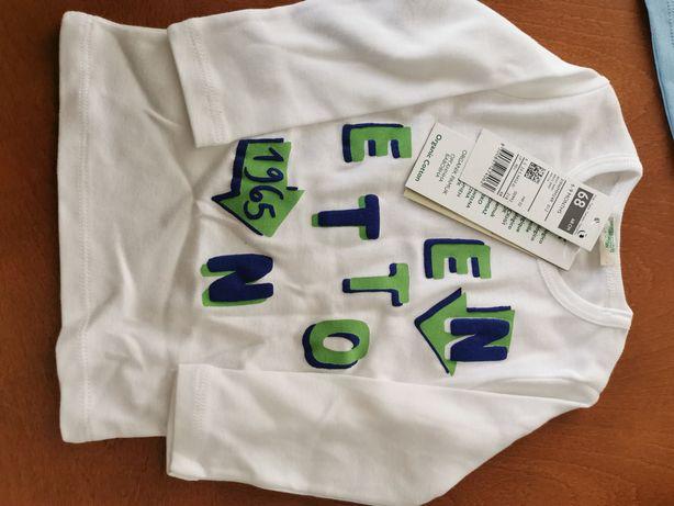 Camisola bebé Benetton novo com etiqueta