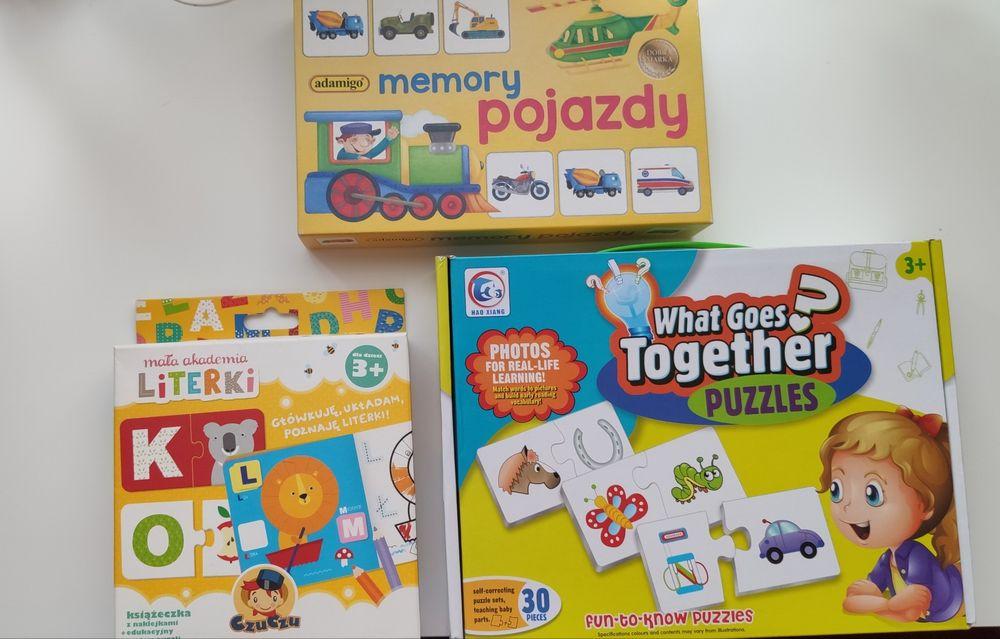 Puzzle i memory jak nowe 3 sztuki Częstochowa - image 1