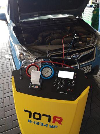 Serwis, napełnianie klimatyzacji nowym czynnikiem yf1234