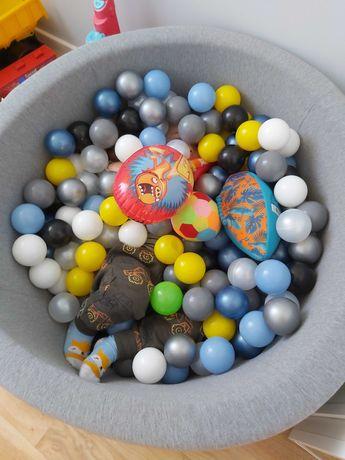 Suchy basen zuzu kids z piłkami piłeczkami szary
