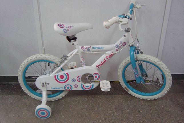 """Rower rowerek 16"""" NOWY dziewczęcy Harmony"""