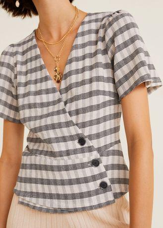 Блуза в клеточку Mango Манго размер S