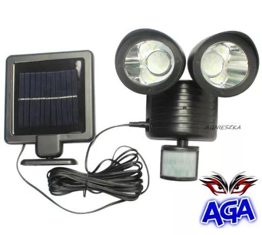 Lampa Solar SOLARNA Czujnik Ruchu/Zmierzchu 22 LED Halogen