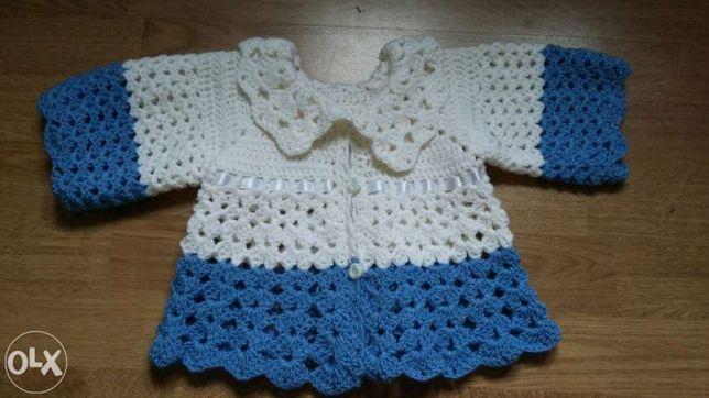 Детская шерстяная нарядная вязання шерстяная кофта на 3-9 месяцев
