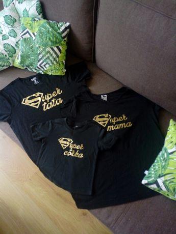 Koszulki zestaw sesja mama tata corka
